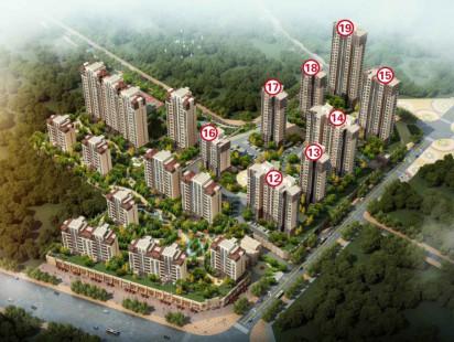 海信西姜景苑鸟瞰图