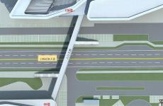 威海华发九龙湾中心CBD项目人行天桥效果图曝光