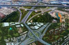 济南零点立交拟拆除新建成14条匝道的涡轮型枢纽互通立交
