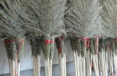 山东潍坊市坊子区前曹村卖扫帚年产值超5千万